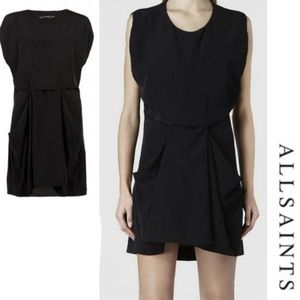 All Saints Black Saelde Dress sz 6